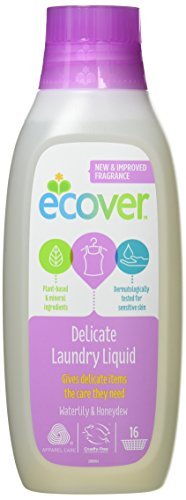Ecover Delicate Laundry Liquid New Waterlily & Honeydew Fragrance 750 ml (Pack of 2)