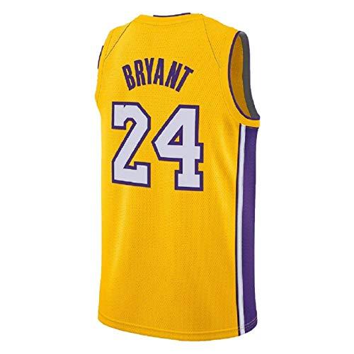 INNOVEN Herren Kobe Trikot Los Angeles 24 Bryant Basketball Gelb Jersey, 54/XXL