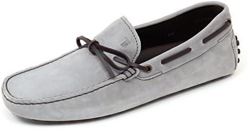 D0026 mocassino uomo TOD'S scarpa grigio/marrone scuro loafer shoe man