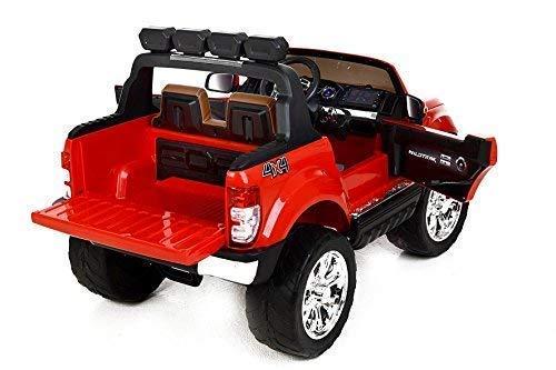 RC Auto kaufen Kinderauto Bild 5: RIRICAR Ford Ranger Wildtrak 4X4 LCD Luxury, Elektro Kinderfahrzeug, LCD-Bildschirm, rot - 2.4Ghz, 2 x 12V, 4 X Motor, Fernbedienung, 2-Sitze in Leder, Soft Eva Räder, Bluetooth*