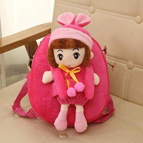ucksack Spielzeug Anime Niedliche Prinzessin Kinder Rucksack Puppen Stofftiere Baby Kinder Schultaschen Kinder Jungen Taschen, Rose Rot ()