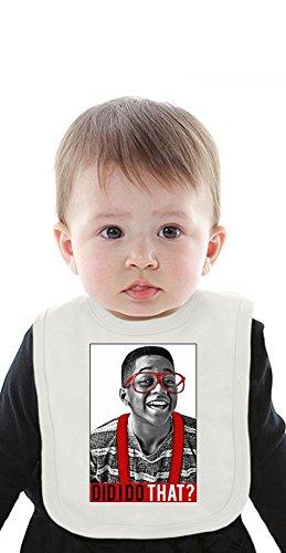 Steve Urkel Did I Do That Organic Baby Bib With Ties Medium