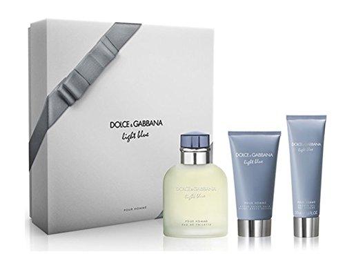 Dolce & Gabbana Light Blue homme/man Set (Eau de Toilette (125 ml), Duschgel (50 ml), After Shave Balm (75 ml)) -