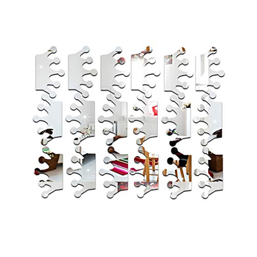 Aiming 18pcs / Set Kronen-Form-Spiegel-Wand-Aufkleber-3D Acryl Mirrored Tapete DIY-Raum-Ausgangsdekoration Abziehbilder -