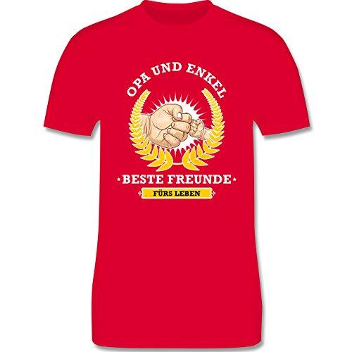 Shirtracer Opa - Opa und Enkel - Beste Freunde fürs Leben - Herren T-Shirt Rundhals Rot
