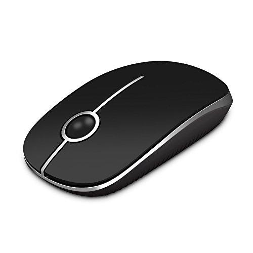 Jelly Comb Kabellose Maus mit Nano-Empfänger (2,4 GHz) Schwarz/Silber schwarz/Silber