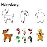 HaimoBurg 3er Pack Weihnachten Edelstahl Ausstecher Ausstechform Keksausstecher zum Backen Fondant (3 Stück)