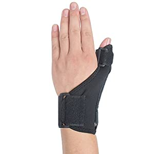 Thumb & Wrist Brace, Risingmed Medical Thumb Support Splint,Dynam (black) ic Spring Stabilizers Support - Help Relieve Thumb/Wrist Pain/Tendonitis/Sprains and Strains with Adjusted Size