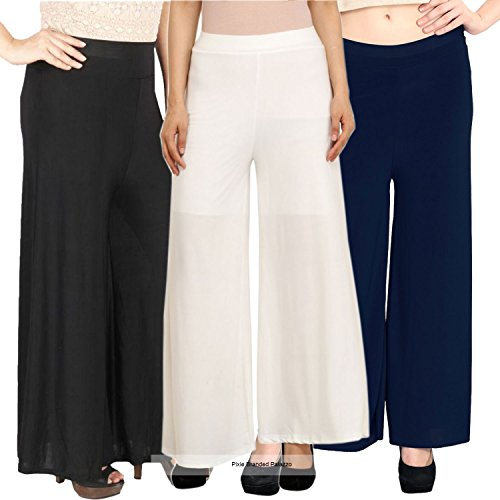 Pixie's Stylish Casual Wear Pant Palazzo Combo (Pack of 3) - Free...