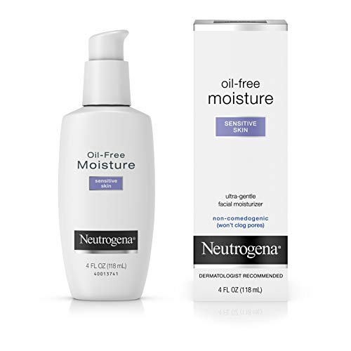 Neutrogena - Lotion Hydratante sans Huile - Moisture Oil Free Formula - Peaux Sensible - 4 oz