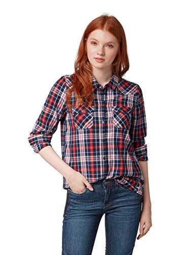 TOM TAILOR Denim für Frauen Blusen, Shirts & Hemden Kariertes Hemd Blue Check, L