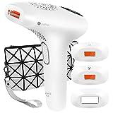 Lapurete Pro 8 IPL Haarentfernungsgerät > 600.000 Lichtimpulse Haarentferner mit 3 Aufsätzen für langanhaltende Haarentfernung, Damen und Männer, 7,8J/cm² - für Körper, Gesicht, Bikini-Zone & Achseln