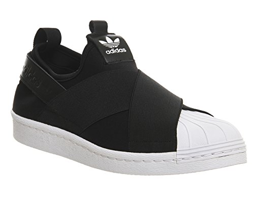 Adidas Superstar Slip On Femme Baskets Mode Noir noir blanc