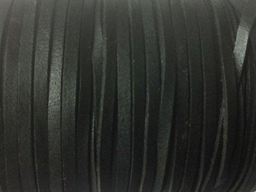 Magic and Arts Lederband flach 3mm schwarz