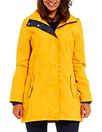 New Shelikes Womens Hooded Plain Lightweight Waterproof Rain Mac