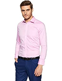 Van Heusen Men's Solid Slim Fit Formal Shirt - B0792GRX9P