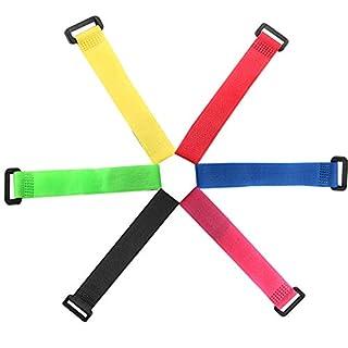 FULARR 30Pcs 20cm Bunt Klett-Kabelbinder, Multipurpose Klettbänder Set, Wiederverwendbare Klettverschluss Kabelbinder, Draht-Organizer für Kabel und Kabelmanagement –– 6 Verschiedene Farben