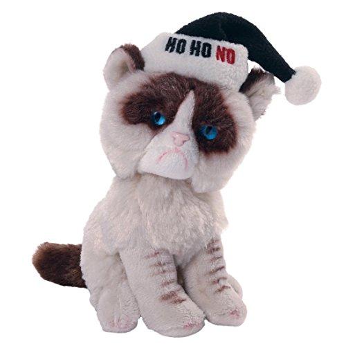 Enesco Gund - Peluche de Gato Grumpy con Gorro de Papá Noel, de Tela, 9 x 11 x 12,5 cm