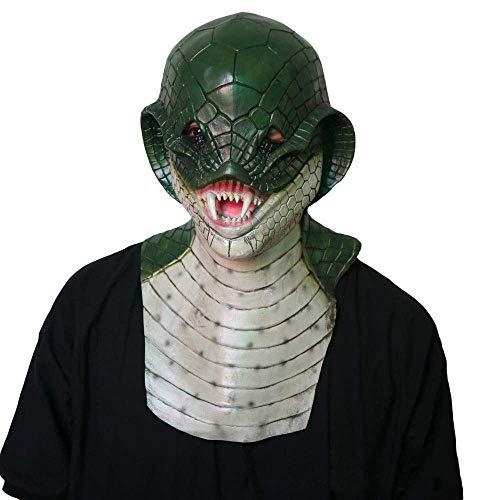Kostüm Schlange Kind - JFSKD Halloween Maske Neuheit Kostüm Party Schlange Kopf Latex Maske Kopfschmuck Rolle Spielen Tier Kopfschmuck