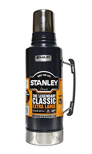 Stanley Isolierflasche, Motiv: The Legendary Classic Extra Large, Edelstahl, Vakuumflasche, robust, 1,9l, Blau