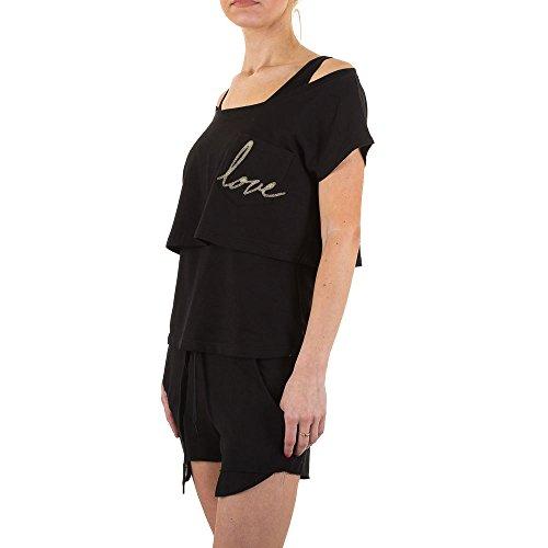Freizeit Dreiteiler Anzug Für Damen bei Ital-Design Schwarz