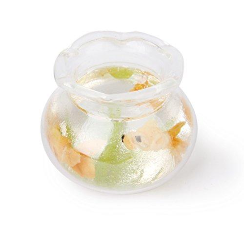 1:12 Puppenhaus Miniatur Gold Fisch Tank Behälter
