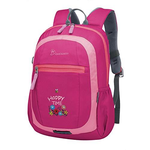 Mountaintop 10L Kinderrucksack Schultasche Kids Outdoor Rucksack für Mädchen Jungen, 25 x 36 x 14.5cm (Rose Rot-6031L)