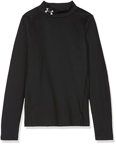 Under Armour Jungen CG Armour Mock Langarmshirt, Black, YMD