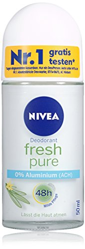 Nivea Deo Fresh Pure Deoroller, ohne Aluminium, Doppelpack, 1er Pack (2 x 50 ml)