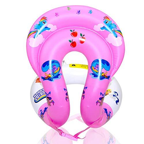 Schwimmwesten Schwimmhilfe - Schwimmweste zum Aufblasen für Kinder und Erwachsene | Schwimmtrainer, aufblasbar | 3 Größen? PVC Schwimmhilfen für Beach (Pink,S) -