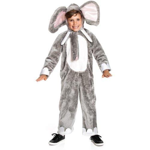 Kinder Elefanten Kostüm - Kostümplanet Elefanten-Kostüm Kinder Elefant Faschings-Kostüm Junge + Mädchen Größe 128