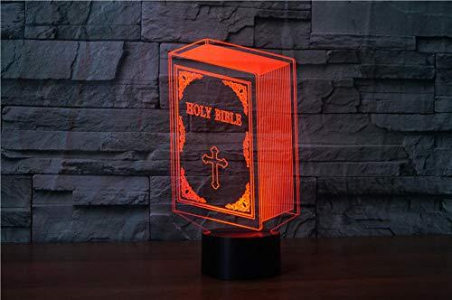 3D Optische Täuschung Nachtlicht Buch 7 Farben Erstaunliche Optische Täuschung Die Schlafzimmer-Dekoration Für Kinder Weihnachten Halloween-Geburtstagsgeschenk Beleuchten