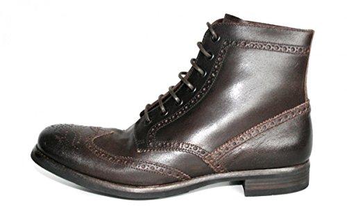 Prada Herren Jacke 2te008Full Brogue Leder Half-Boot, Braun - braun - Größe: 40 EU
