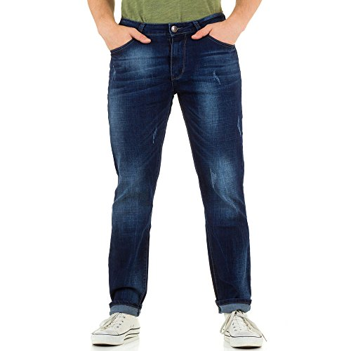 Herren Jeans, USED LOOK STRETCH REGULAR, KL-H-NP153 Blau
