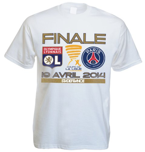 T-shirt OLYMPIQUE LYONNAIS / PARIS SAINT GERMAIN - LYON / PSG Finale Coupe de la Ligue 2014 - Collection officielle - Football - Taille enfant 6 ans