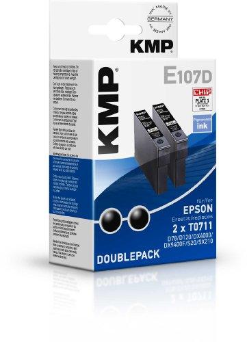 Preisvergleich Produktbild KMP E107D Tintenpatronen Doppelpack (ersetzt T071140) black