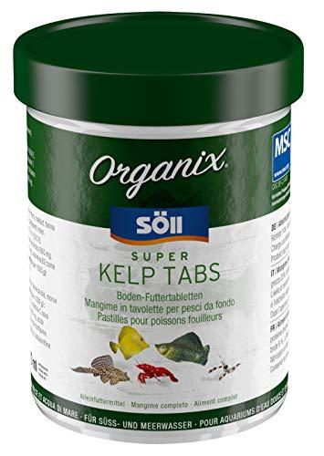 Söll 16248 Organix Super Kelp Tabs - Süß- und Meerwasser Zierfischfutter - Bodenfuttertabletten - 270 ml (Tab Sus)