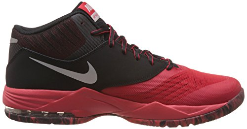 Nike Air Max Emergent, Chaussures de Sport-Basketball Homme, Blanc, 42 EU Rouge / argenté / noir / gris (rouge université / argenté métallique - noir)