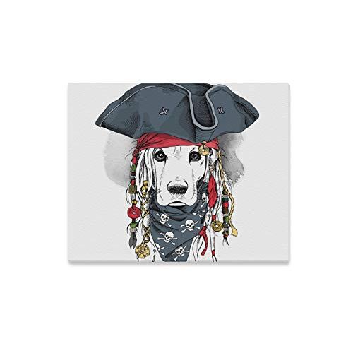 Verwandte Hunde Kostüm - QuqUshop Wandkunst Malerei Porträt Cocker Spaniel Hund Piratenhut Drucke Auf Leinwand Das Bild Landschaft Bilder Öl Für Zuhause Moderne Dekoration Druck Dekor Für Wohnzimmer