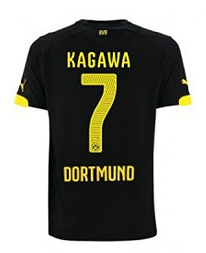 Herren Away Trikot (puma BVB BORUSSIA DORTMUND Trikot Away Herren 2014 / 2016- KAGAWA 7, Größe:L)
