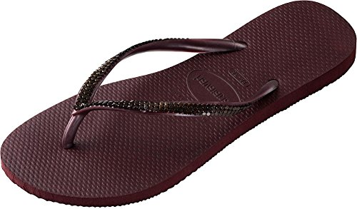 Havaianas - Chaussons - SLIM METAL MESH Grape Wine