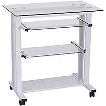 Mesa para impresora - Mesa para ordenador con ruedas ...