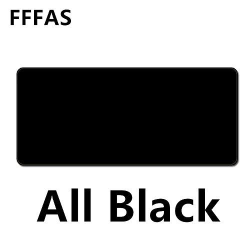 YANXUEPING Fffas Große Schwarze Maus Pad Matte ganz schwarzen Schreibtisch Tisch Mousepad Büro Kissen super groß 60 cm 70 cm 80 cm 90 cm 100 cm 120 cm XL, 90 X 40 cm.