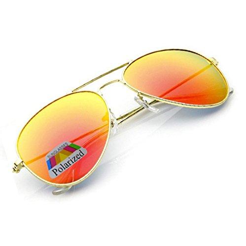 Polarisiert Sonnenbrille für Jungen, Mädchen, Kinder, Metall, Pilotenbrille, silberfarbene...