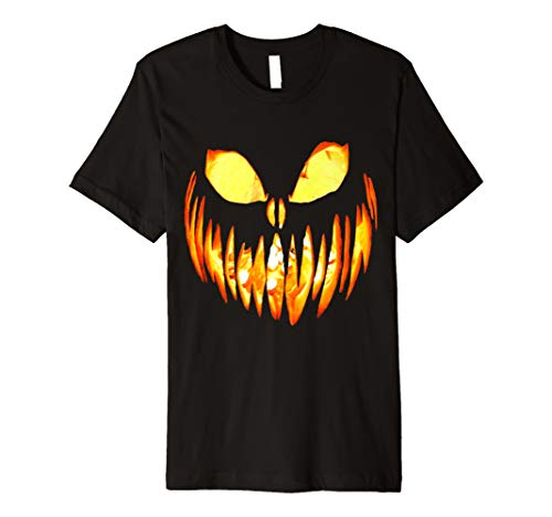 (Halloween Jack O' Lantern Scary Pumpkin Face T-Shirt)