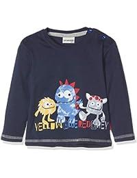 Salt & Pepper B Longsleeve Monster Print, Camiseta de Manga Larga Unisex bebé