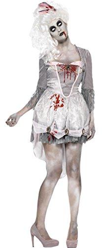 erdbeerloft - Damen Karneval Halloween Kostüm Zombie Georgian , Grau, Größe L (Bella Cullen Kostüm)