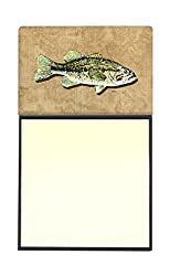 Carolines Treasures Small Mouth Bass Refillable Sticky Note Holder or Postit Note Dispenser, 3.25 by 5.5, Multicolor