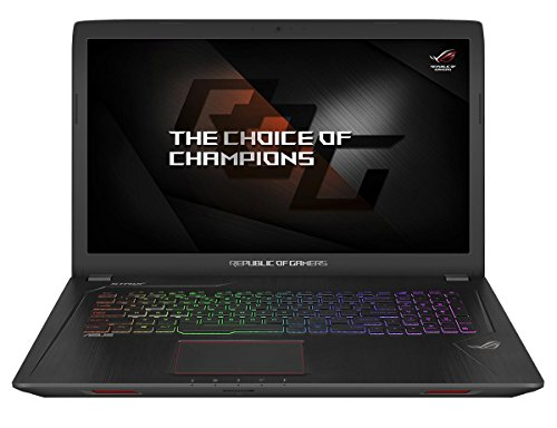 Asus Strix GL753VD-GC337T 43,9 cm (17,3 Zoll mattes FHD) Gaming Notebook (Intel Core i5-7300HQ, 16GB RAM, 128GB SSD, 1TB HDD, NVIDIA GeForce GTX 1050, DVD, Win 10 Home) schwarz (Win 7 Laptop I5)