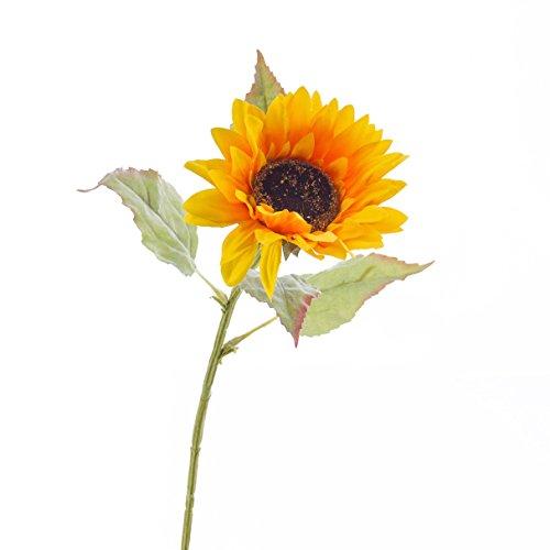 artplants Künstliche Sonnenblume, gelb, 70 cm, Ø 12 cm – Kunstblume/Kunst Sonnenblumen